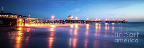 2017 Photograph - San Clemente California Pier Panorama Photo by Paul Velgos