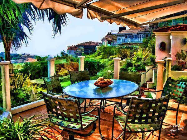 Photograph - San Clemente Estate Patio 2 by Kathy Tarochione
