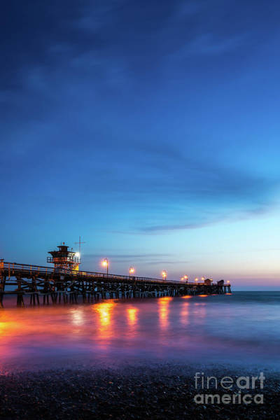 2017 Photograph - San Clemente Pier At Night Photo by Paul Velgos
