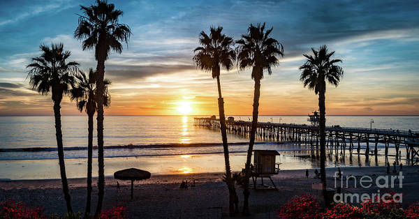 Photograph - San Clemente Pier At Sunset by David Levin