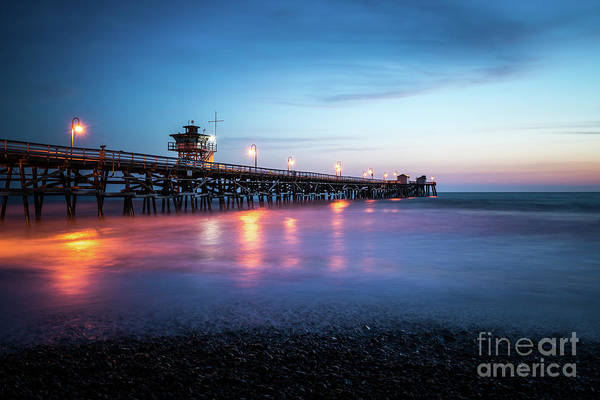 2017 Photograph - San Clemente Pier At Sunset by Paul Velgos