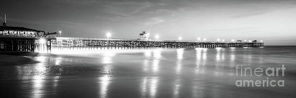 2017 Photograph - San Clemente Pier Black And White Panorama Picture by Paul Velgos
