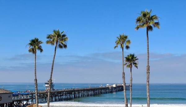 Photograph - San Clemente Pier by Brian Eberly