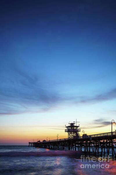 2017 Photograph - San Clemente Pier Sunset Picture by Paul Velgos