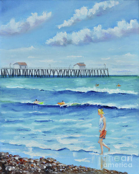 Painting - San Clemente Stroll by Mary Scott