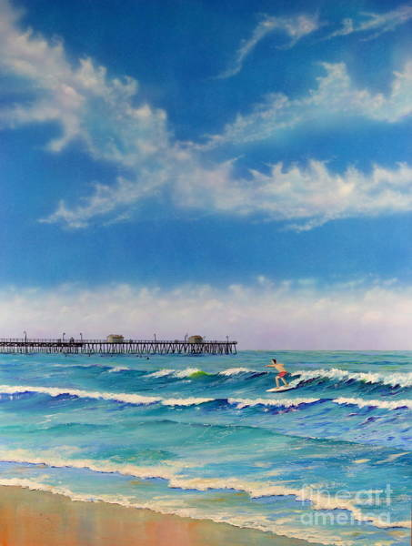 Painting - San Clemente Surf by Mary Scott