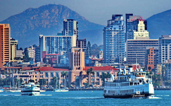 Wall Art - Photograph - San Diego Bay Ferry's by Russ Harris