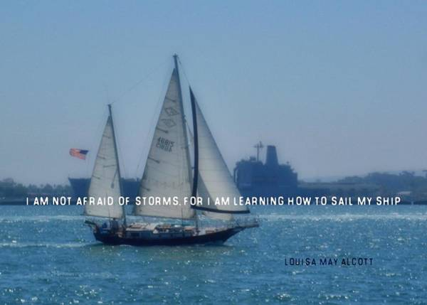 San Diego Bay Quote Art Print