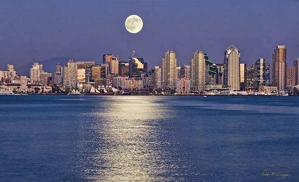 Photograph - San Diego Blue Moon by Dan McGeorge