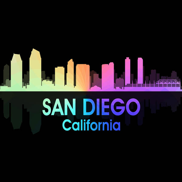 Digital Art - San Diego Ca 5 Squared by Angelina Tamez