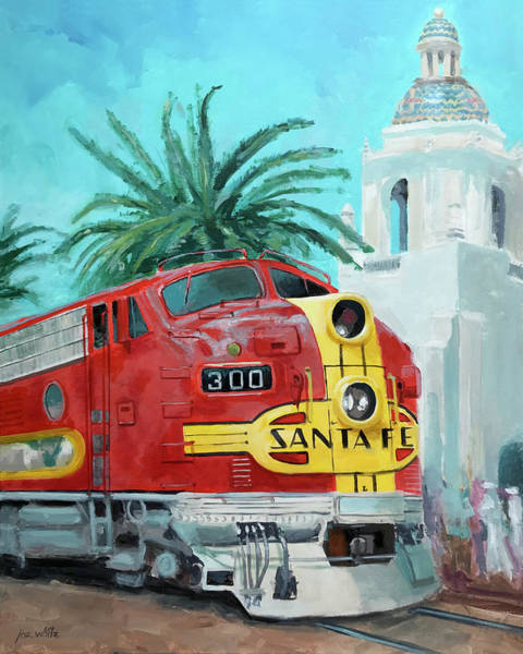 Model Trains Painting - San Diegan On Liberty by Joe White