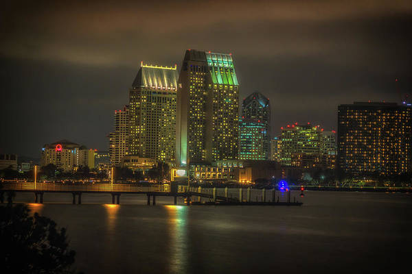 Coronado Photograph - San Diego City Lights by Marnie Patchett