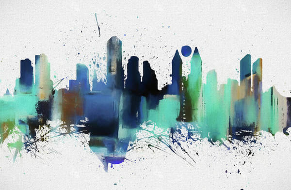 Wall Art - Painting - San Diego Colorful Skyline by Dan Sproul