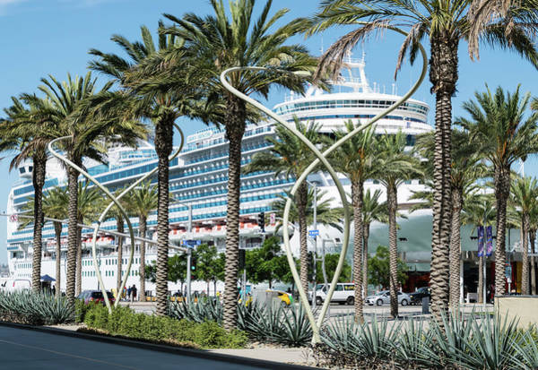 Princess Cruise Lines Photograph - San Diego Cruise Ship Dock by Robert VanDerWal