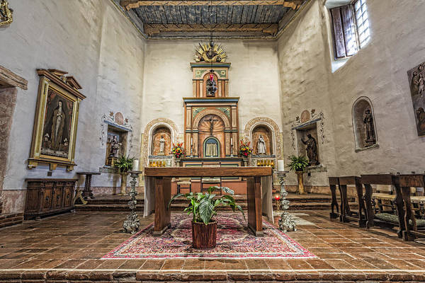 Missionary Photograph - San Diego De Alcala Altar by Stephen Stookey
