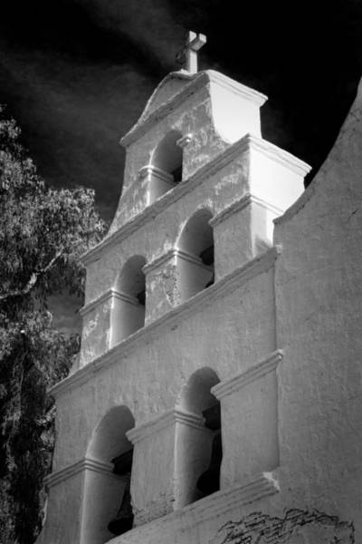 California Mission Photograph - San Diego De Alcala Campanario by Stephen Stookey