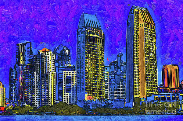 Digital Art - San Diego In Abstract by Kirt Tisdale