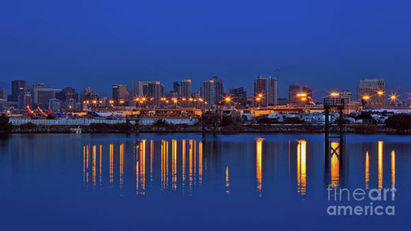 Photograph - San Diego International Airport And Downtown Skyline by Sam Antonio Photography