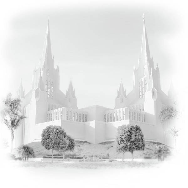 Photograph - San Diego Lds Temple by Marie Leslie