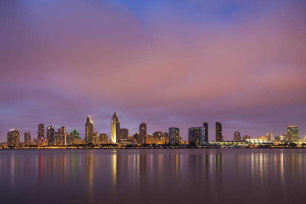 West Bay Photograph - San Diego Skyline by Adam Romanowicz