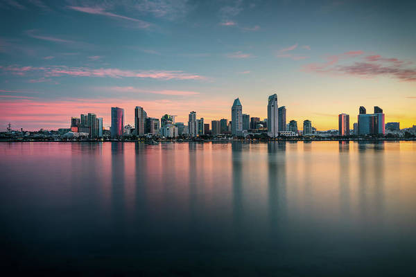 Photograph - San Diego Skyline At Dawn by James Udall
