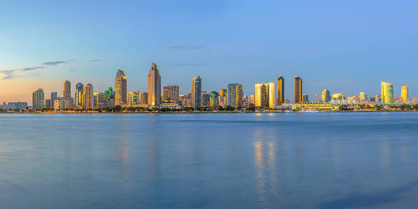 Photograph - San Diego Skyline At Dusk by James Udall