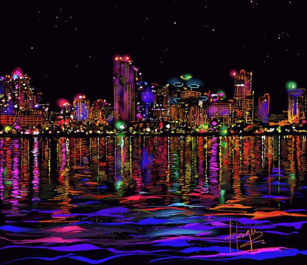 San Diego Stars Art Print