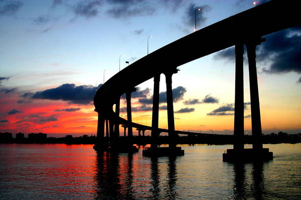 Coronado Photograph - San Diego Sunset by Scott Brown