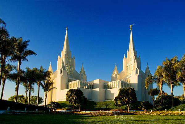 Mormon Photograph - San Diego Towers by La Rae  Roberts