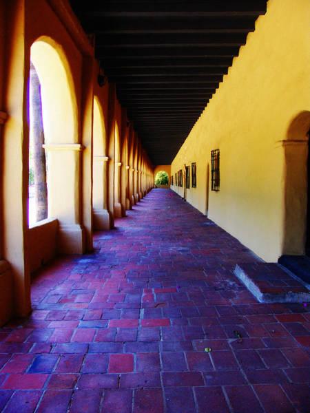 Photograph - San Fernando Valley Mission Arcade by Glenn McCarthy Art and Photography