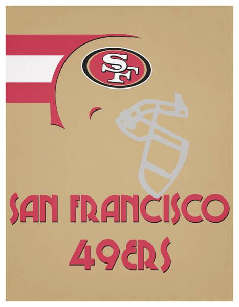 Wall Art - Mixed Media - San Francisco 49ers Team Vintage Art by Joe Hamilton