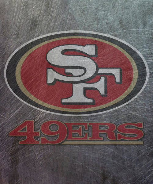 Mixed Media - San Francisco 49ers Translucent Steel by Movie Poster Prints