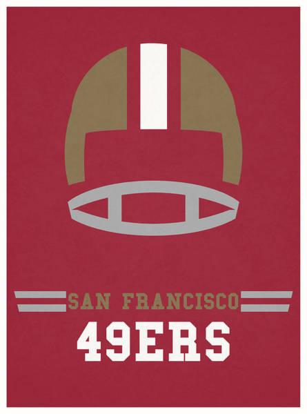 Ball Game Wall Art - Mixed Media - San Francisco 49ers Vintage Art by Joe Hamilton