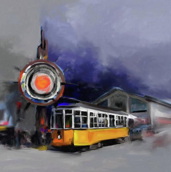 Chinatown Painting - San Francisco 555 2 by Mawra Tahreem