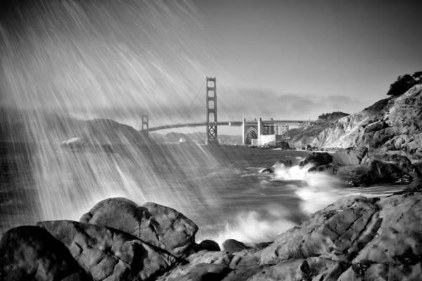 Us West Coast Photograph - San Francisco Baker Beach Breakers by Melanie Viola