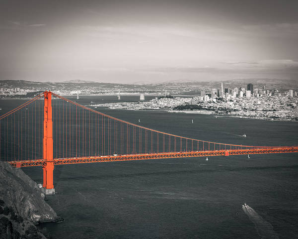 Photograph - San Francisco Bay And Golden Gate Bridge In Selective Color by James Udall