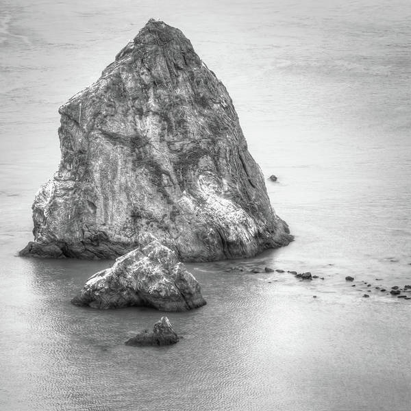 Photograph - San Francisco Bay Area Rocks - Black And White by Gregory Ballos