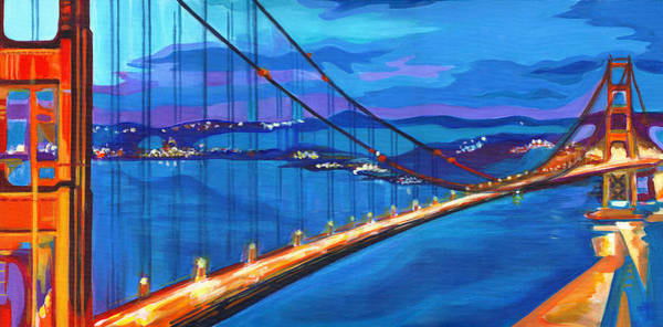 Painting - San Francisco Bay Blues  by Tanya Filichkin