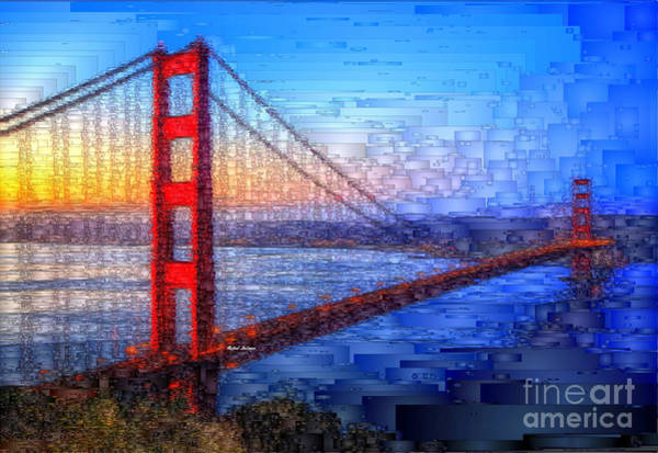 Digital Art - San Francisco Bay Bridge by Rafael Salazar