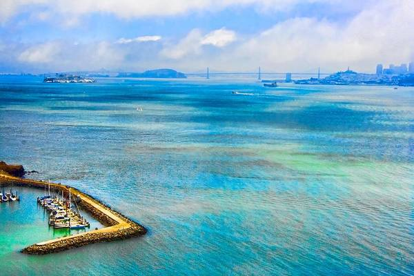 Wall Art - Digital Art - San Francisco Bay by Ches Black