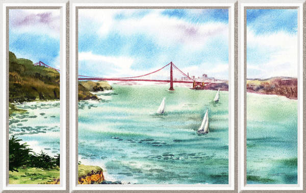 Baltic Sea Painting - San Francisco Bay View Window by Irina Sztukowski