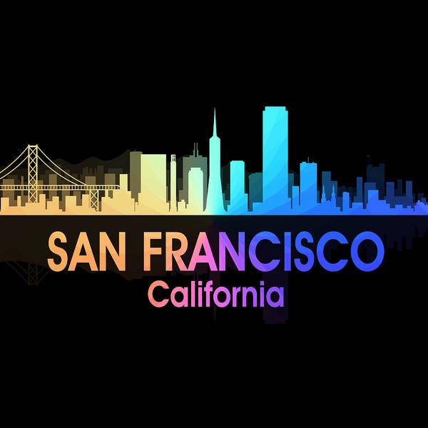 Mixed Media - San Francisco Ca 5 Squared by Angelina Tamez