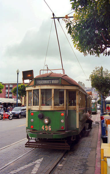Photograph - San Francisco Trolley Car by Frank Romeo