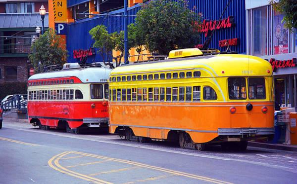 Photograph - San Francisco Trolley Cars by Frank Romeo