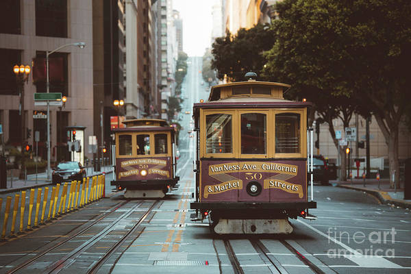 Wall Art - Photograph - San Francisco Cable Cars Vintage by JR Photography