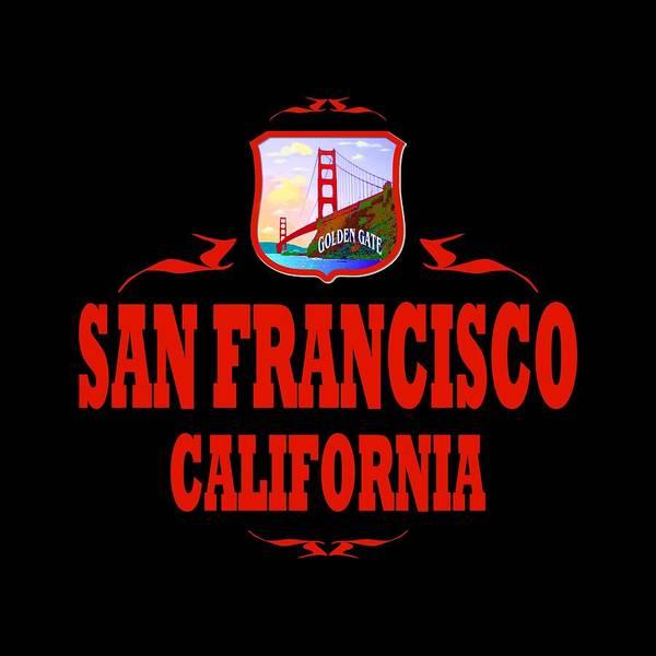 Clothing Design Mixed Media - San Francisco California Golden Gate Design by Peter Potter