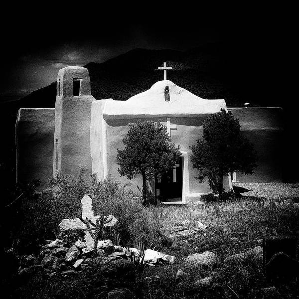 Photograph - San Francisco Church In New Mexico by David Patterson