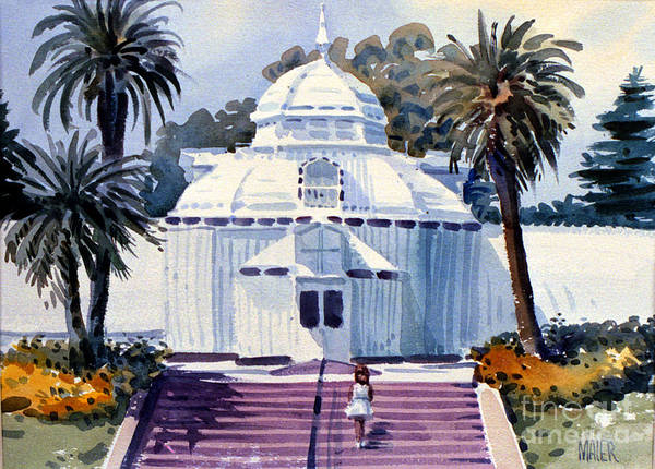 Golden Gate Painting - San Francisco Conservatory by Donald Maier
