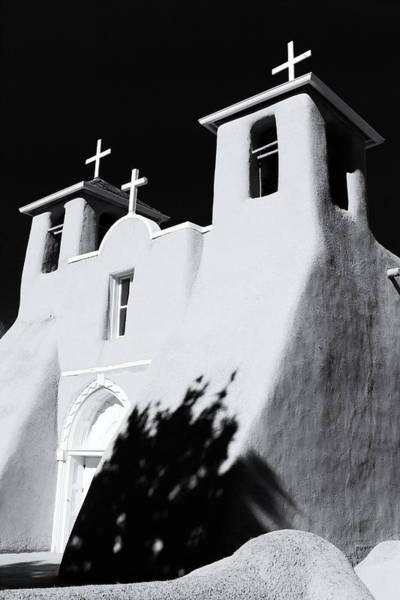 Photograph - San Francisco De Asis Front View - Black And White by Nicholas Blackwell