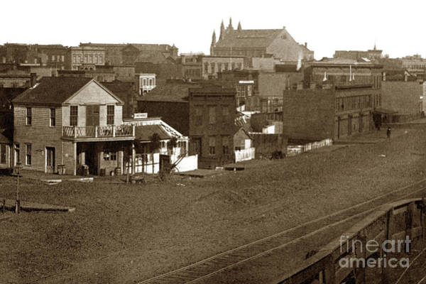 Photograph - San Francisco, From Cor. Market And Sixth Sts., Looking Northeast 1866 by California Views Archives Mr Pat Hathaway Archives